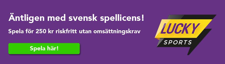 Lucky Sports har fått svensk spellicens
